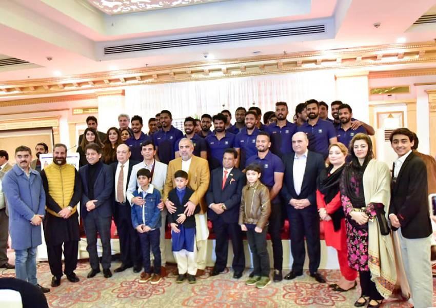 Hosted visiting Sri Lankan Cricket team to a dinner last night at Marriott hotel