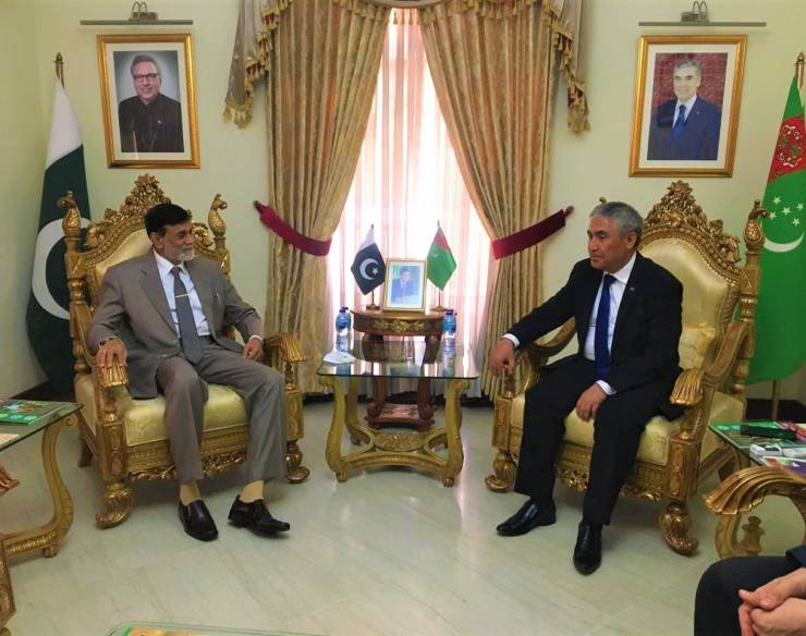 H.E. the High commissioner met with ambassador Turkmenistan