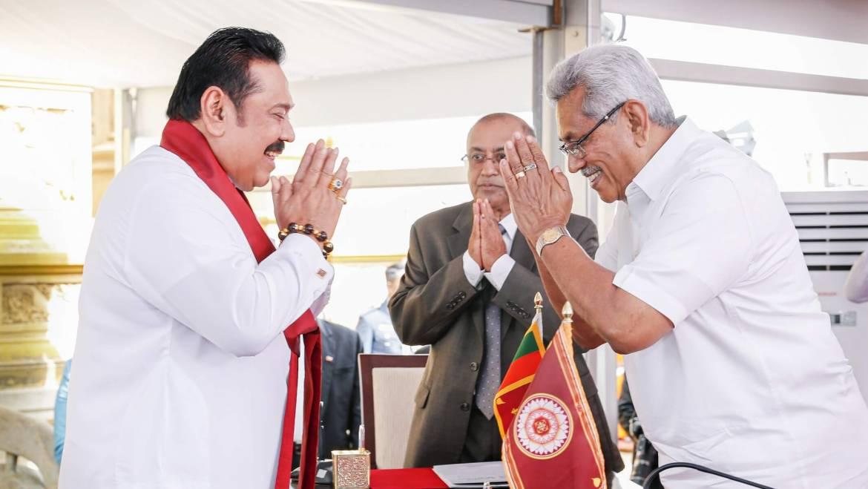 Hon. Mahinda Rajapaksa sworn in as the 13th Prime Minister of Sri Lanka
